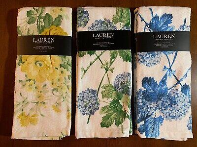 Lauren Ralph Lauren Blue Kitchen Towel Set of 2 Choose Design Floral Tropical