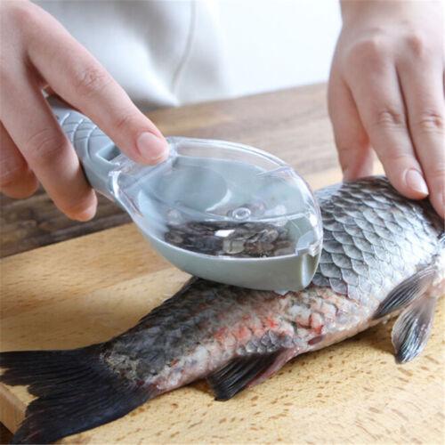 Plastic Fish Scales Brush Shaver Remover Cleaner Descaler Skinner Scaler Tool FL