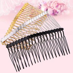 5Pcs 20 Teeth 75X35mm Metal Hair Clips Side Combs Pin Barrettes Hair Accessories