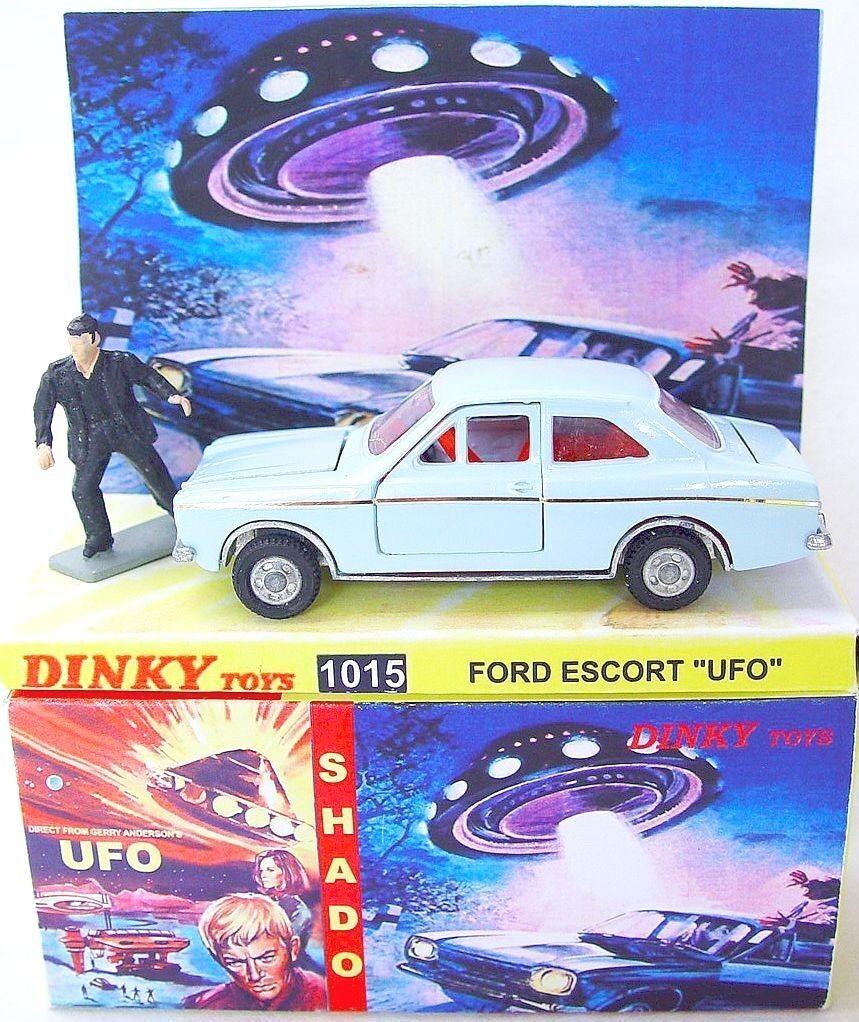 Culfi CTS Código - 3 Dinky Toys Shado Ovni De Ford Escort Gerry Anderson TV coche Menta en caja