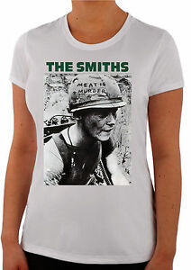 The Smiths Meat Is Murder Alternative Rock Band Morrissey UK Women T-Shirt W256