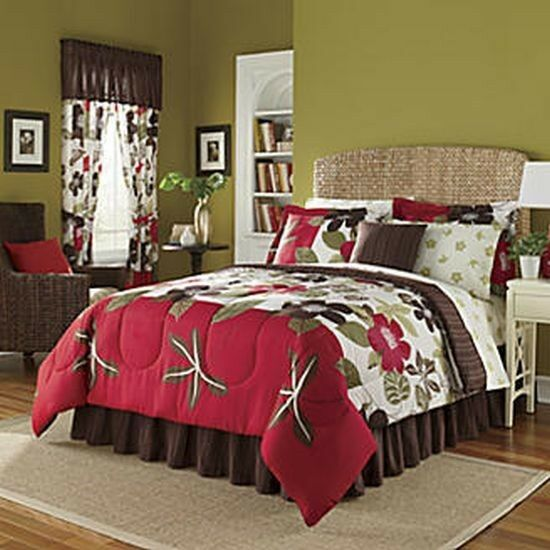 Carrie Polynesian Star Floral Flowers Island Hawaii Tropical Comforter Set Twin