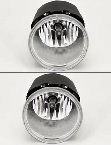 Euro-Clear-Front-Bumper-Fog-Lights-Lamps-Pair-Fits-Chrysler-Jeep-Dodge