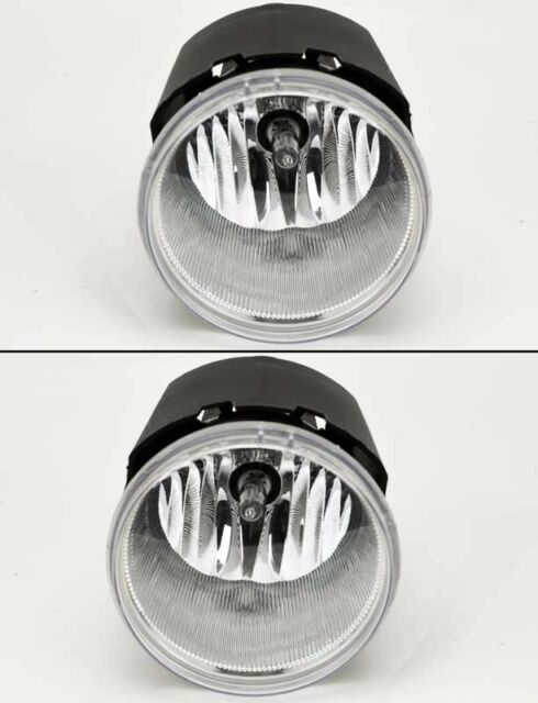 Euro Clear Front Bumper Fog Lights Lamps Pair Fits Chrysler Jeep Dodge