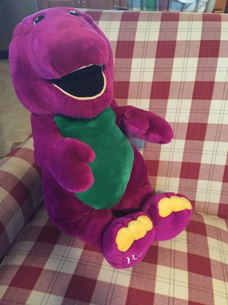 LYONS 26  Peluche BARNEY The púrpura Dinosaur Vintage Grande enorme Jumbo Juguete de Peluche