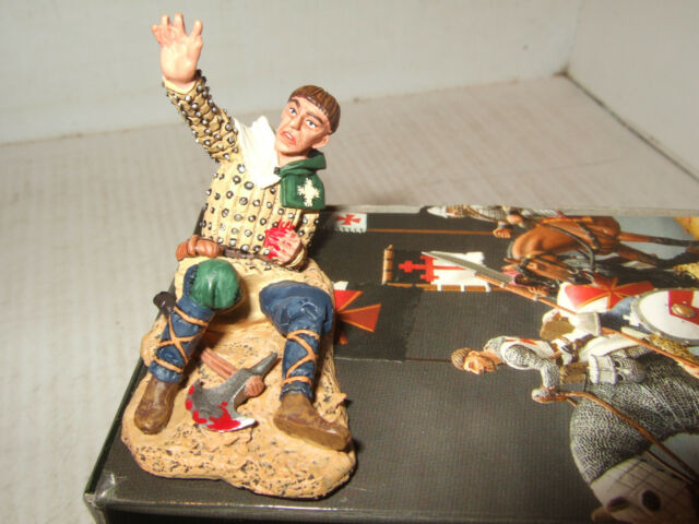 King and Country MK021 Crusaders Range Wounded Man at Arms in 1:30 Scale