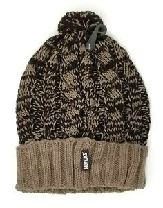 0d1898fe0025d NWT Muk Luks MukLuks Women's Cable Beanie Pom Hat Timber Wolf Brown ...