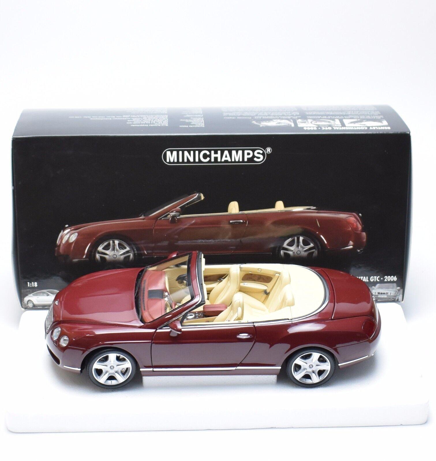 MINICHAMPS  BENTLEY CONTINENTAL GTC Cabriolet Année De Construction 2006, 1 18, NEUF dans sa boîte, k031  Commandez maintenant
