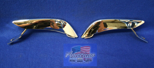 FORD 1965-1966 Mustang Left & Right Chrome Rear Bumper Bar Guards (Pair) 65 66