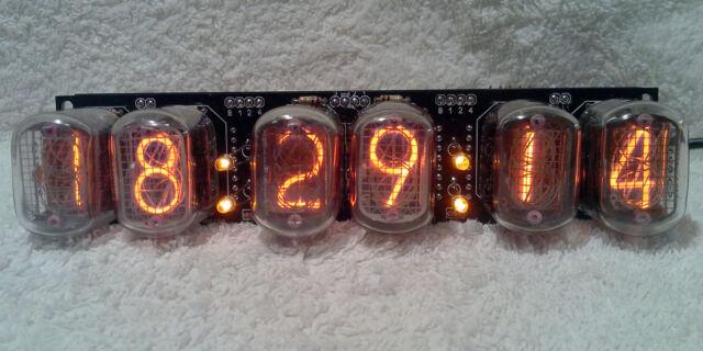 6 DIGIT IN 12 NIXIE TUBE CLOCK 2 ALARMS