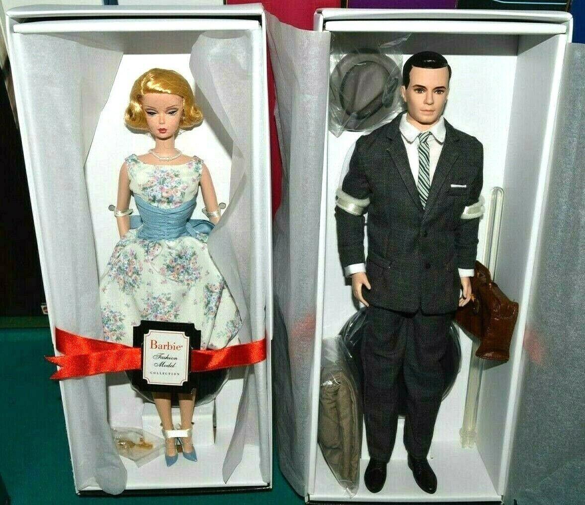 Etiqueta de oro NIB-2010 Muñecas Barbie SILKSTONE MAD MEN Betty & Don Draper Modelo Coll