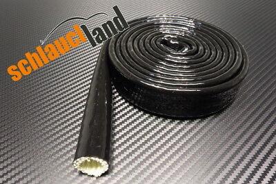 1m Silikon Hitzeschutzschlauch Titan ID 15mm *** Kabelbaum Kabelschutz Audi BMW