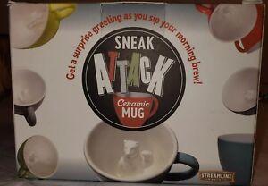 Sneak Attack Fox Mug Sneaky Surprise Coffee Tea Cup Ceramic Gift Prank Joke