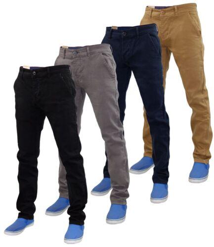 Di Denim Slim Uomo Stretch Pantaloni Chino Twill Nuovo Da Cotone Firetrap qB0wtF7