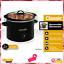 Dishwasher-Safe Stoneware and Lid Crock-Pot 2 Quart Manual Slow Cooker Black