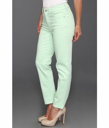 NEW NYDJ Not Your Daughters Jeans pants ALISHA Spearmint green ANKLE