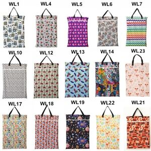1-U-PICK-Large-Hanging-Wet-Dry-Pail-Bag-Cloth-Diaper-Insert-Laundry-Two-Zippered