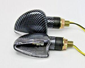 2X Honda CB900 CBF600 CB1300 CBR600F Hornet CR85R SPEAR CARBON BULB TURN SIGNAL