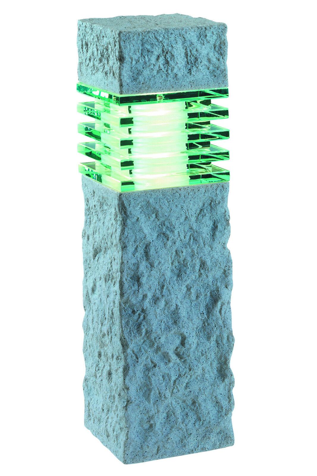 Gardenlights lámpara de jardín 12 voltios Nepos piedra efecto LED 3w calido-Weiss