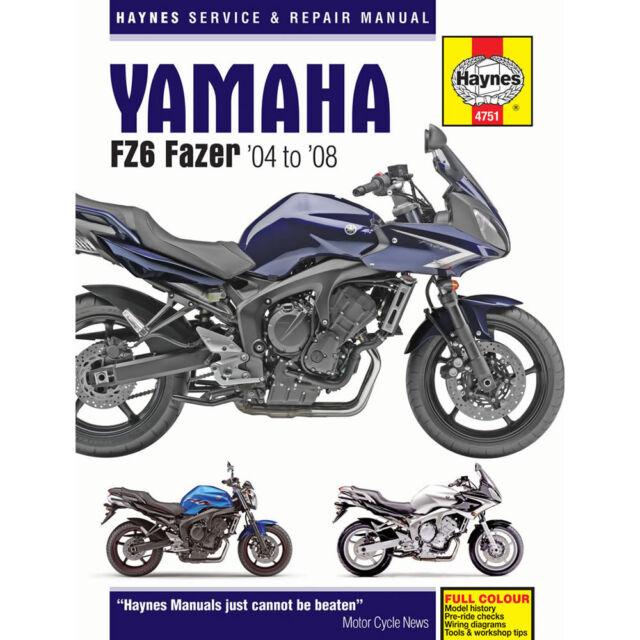 Yamaha FZ6 inc Fazer 2004-2008 Haynes Workshop Manual