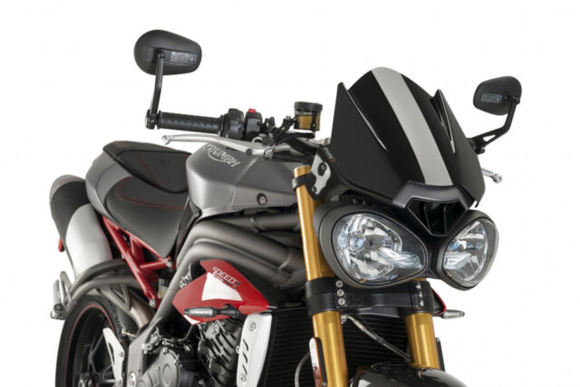 PUIG NAKED WINDSHIELD N.G. SPORT FOR TRIUMPH STREET TRIPLE R/RS 17-19 BLACK