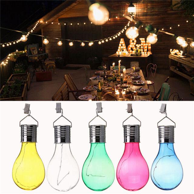 Waterproof Solar Powered Bedroom Yard Garden Hanging LED Light Lamp Bulb New