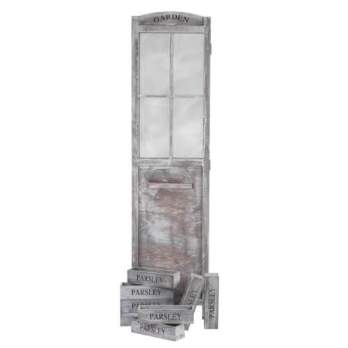 Pflanzkörbe Paravent Mälsta Shabby-Look Vintage 177x182x20cm Raumteiler