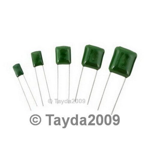 50 x 8200pF 0.0082uF 100V 5/% Mylar Film Capacitors