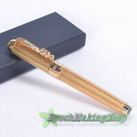 shipping JINHAO 1200 NOBLEST GOLDEN DRAGON CARVED M NIB Fountain Pen new