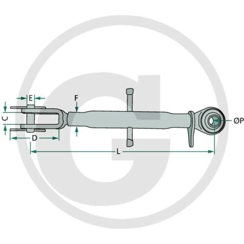 Stabilisatorstrebe verstellbar 380-530/_Ø 22/_Spannkette/_Stabilisatorkette/_