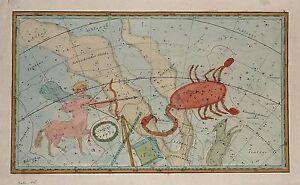 Antique map, Sagittarius and Sobieskischer Schild (Sobieski's Shield)