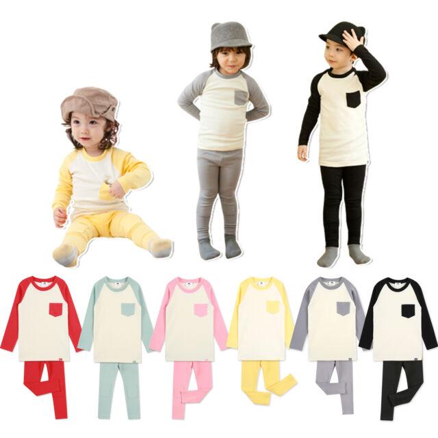 "2pcs Korea NWT Vaenait Baby Kids Boys Girls  Outfit Pyjamas Set""Raglan Set""2T-6T"