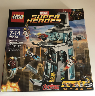 NOT LEGO Super Heroes 76038 Attack on Avengers Tower 511 Pcs New Rare Sealed