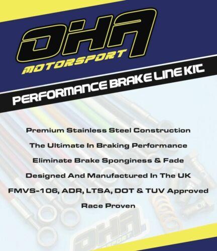 Honda GL1000 KZ-K1 Goldwing 1979-1980 OHA S//S Braided Front /& Rear Brake Lines