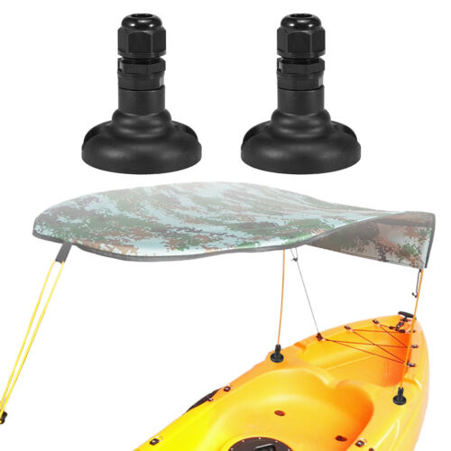 1 Pair Kayak Canopy Mount Base Hardware Kit for Boat Canoe Awning Sun Shade