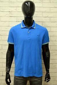 Polo-LOTTO-Uomo-Taglia-Size-XL-Maglia-Maglietta-Camicia-Shirt-Man-Cotone-Blu