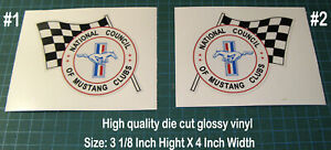 NATIONAL-COUNCIL-OF-MUSTANG-CLUBS-VINYL-DECAL-STICKER-4-034-X-3-034-LEFT-amp-RIGHT-SIDE