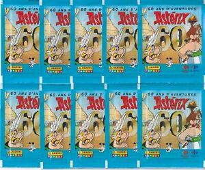 Panini 60 ans ASTERIX Aventure Sticker 10 pochettes//50 stickers