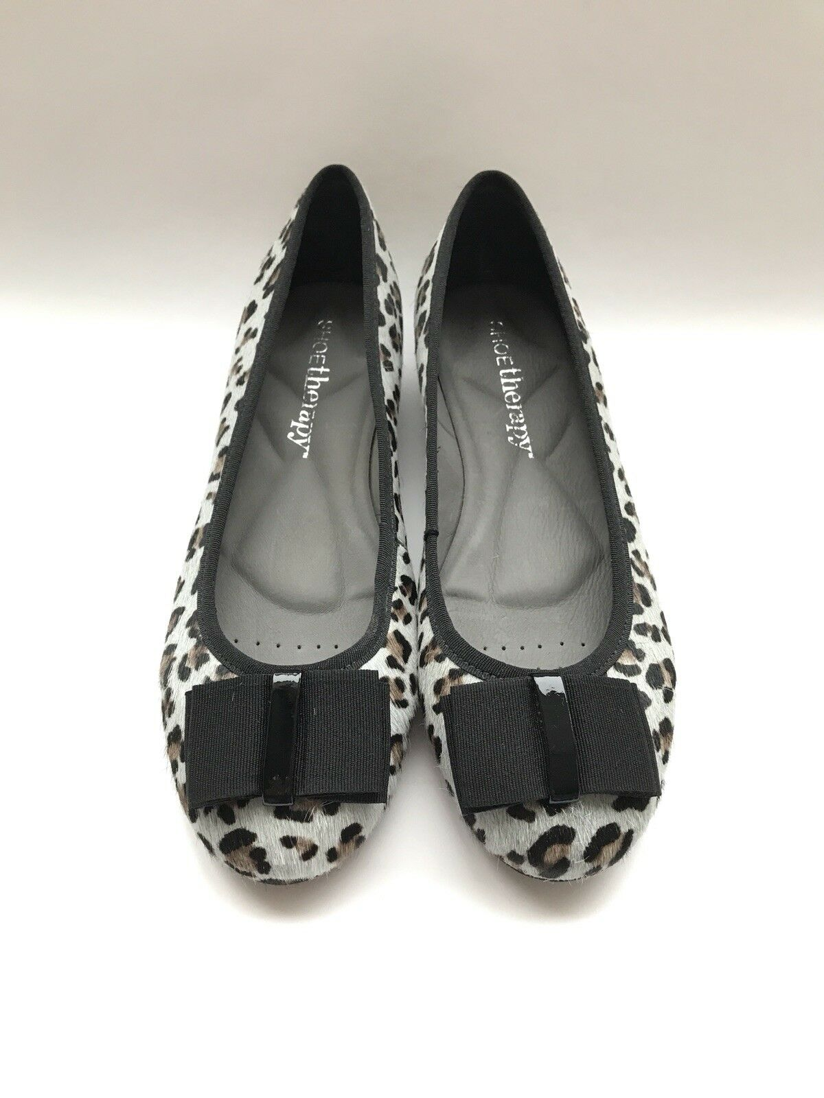 shoesTherapy Leopard Ballet Pump, Horsehair, size 6UK= 39EUR, bluee and black