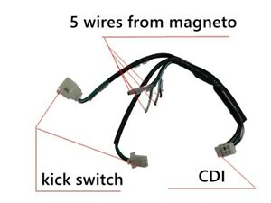 image is loading wire-loom-wiring-harness-kick-start-50-70-