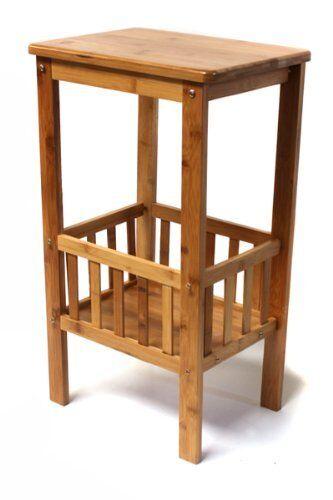 Bambus Blaumentisch Dekotisch Beistelltisch Telefontisch mit Abstellfläche