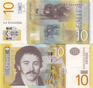 Serbia-10-Dinara-2013-Uncirculated-Banknote-Currency-Money-Cash-Bill