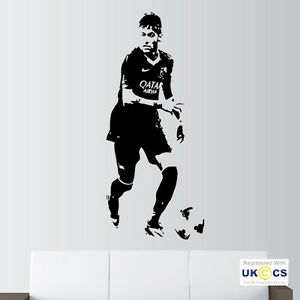 Image Is Loading Neymar Barcelona FC Football Wall Art Stickers Decal  Part 78
