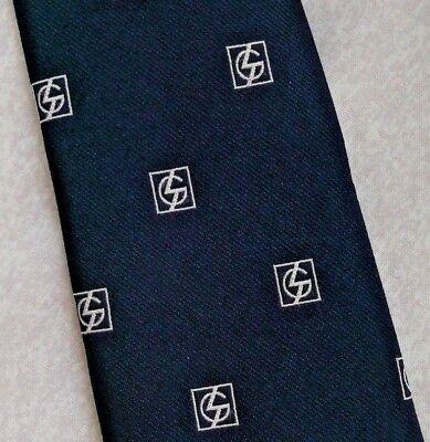 Delizioso Vintage Tootal Cravatta Da Uomo Cravatta Retrò 1980s Fashion Crested-mostra Il Titolo Originale