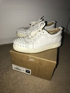 online store 792dc bf052 Details about christian louboutin 37 White Junior Spike Trainers