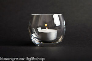 Barrel Crystal Glass Tea light Holder - Gift  Boxed (Tealight included)