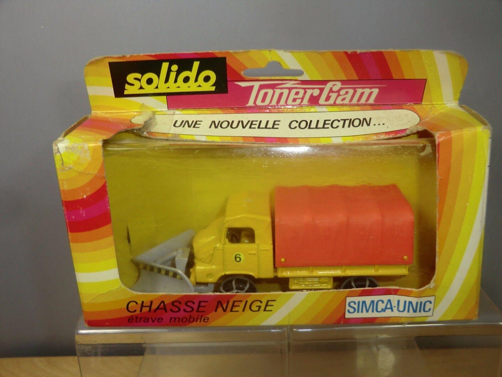 VINTAGE SOLIDO   MODEL No.359  TONER GAM    SIMCA.UNIC SNOW PLOUGH  .VN MIB