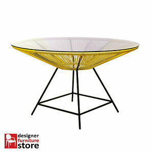 Replica-Acapulco-Dining-Table-Yellow-120cm-Diameter
