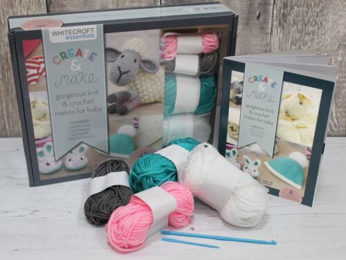 Crochet Beginners Kit for Baby with Wool Needle /& Instructions Crochet Hook