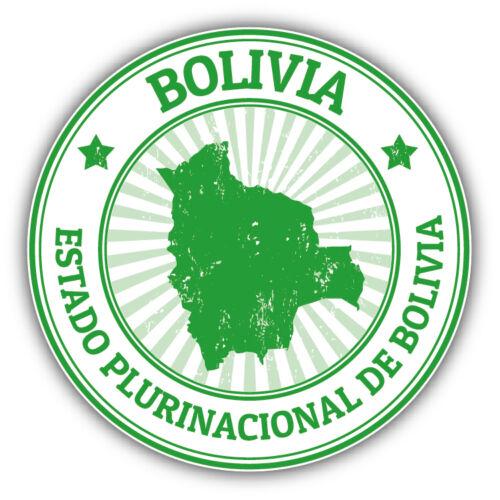 Bolivia Map Grunge Rubbet Stamp Car Bumper Sticker Decal 5/'/' x 5/'/'